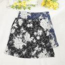 skirt Summer 2020 S,M,L,XL Black, blue Short skirt Retro High waist A-line skirt Decor Type A 18-24 years old 30% and below other Zipper, print