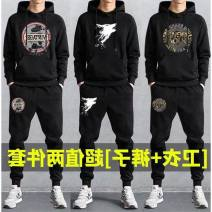 Casual pants Others other thin trousers motion Extra wide get shot autumn youth Hip hop 2020 middle-waisted horn Other 100% straps Different color car line Batik Ethnic style Terry cloth modal  Domestic non famous brands