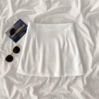 skirt cotton Summer 2021 longuette High waist fresh Other / other R59541 S,M,L P63 - white one set [buy one more cost-effective], j16 - Apricot one set [buy one more cost-effective], h44 - single white top, H24 - single apricot top, F80 - single white skirt, f37 - single apricot skirt
