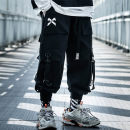 Casual pants Others Youth fashion black S,M,L,XL,2XL routine trousers Other leisure easy Micro bomb autumn teenagers tide 2020 middle-waisted Little feet Overalls Pocket decoration No iron treatment Solid color cotton