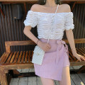 skirt Summer of 2019 S,M,L,XL Short skirt commute High waist Irregular Solid color Type A 25-29 years old 91% (inclusive) - 95% (inclusive) Fawn wants to fly polyester fiber Asymmetric, strap, zipper Korean version