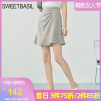 skirt Summer 2021 S M L XL Green check Short skirt Versatile High waist A-line skirt lattice Type A 25-29 years old D1GH12111 More than 95% other Sweet basil / Zishu polyester fiber Chain button Polyester fiber 97.5% polyurethane elastic fiber (spandex) 2.5% Pure e-commerce (online only)