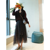 skirt Spring 2021 36/S,38/M,40/L Green fog and blue grey