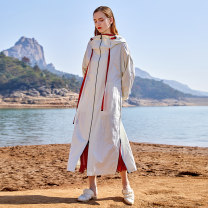 Windbreaker Spring 2020 S M L Off white Khaki blue Long sleeves routine have more cash than can be accounted for commute zipper Hood bishop sleeve Solid color Straight cylinder literature Jn / JW / in and out of bounds J01F156 25-29 years old 51% (inclusive) - 70% (inclusive) nylon nylon
