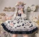 Dress Winter 2020 Jsk suspender skirt, shirt S,M,L Sweet Decor camisole Bear sauce printing 71% (inclusive) - 80% (inclusive) Lolita