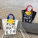Bag handbag canvas Tote Bag Other / other brand new Japan and South Korea in leisure time soft Magnetic buckle no Plants and flowers Double root nothing youth Shopping bag printing Soft handle canvas set-in pocket