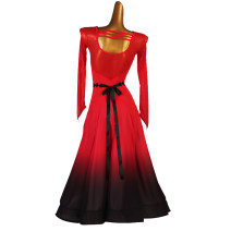 Modern dance suit (including performance clothes) The charm of glory Foxtrot , waltz , Trot , Tango female Red, black, white S,M,L,XL,XXL other
