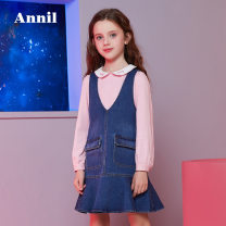 Dress female Annil / anel 110cm,120cm,130cm,140cm,150cm,160cm,170cm Cotton 100% spring and autumn college Skirt / vest Solid color cotton Strapless skirt Class C 2, 3, 4, 5, 6, 7, 8, 9, 10, 11, 12, 13, 14 years old Chinese Mainland Guangdong Province Shenzhen City