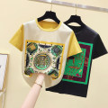 T-shirt Yellow, black S,M,L,XL,2XL,3XL Summer 2020 Short sleeve Crew neck easy Regular routine commute cotton 86% (inclusive) -95% (inclusive) 18-24 years old Cartoon animation 3D