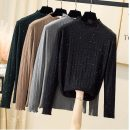 Women's large Autumn 2020 Khaki, dark green, grey, black, a jacket or pants XL [115-125 Jin], 2XL [125-135 Jin], 3XL [135-145 Jin], 4XL [145-155 Jin], l [105-115 Jin], m [90-105 Jin] Knitwear / cardigan singleton  commute easy moderate Socket Long sleeves Korean version Half high collar routine