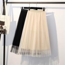 Women's large Summer 2020 Apricot, black, solid T-shirt L.,1XL,2XL,3XL singleton  25-29 years old Medium length