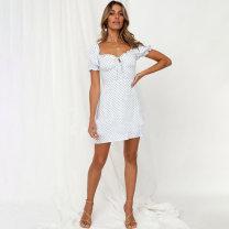 Dress Spring 2021 Picture color S,M,L Short skirt singleton  Short sleeve Sweet Decor