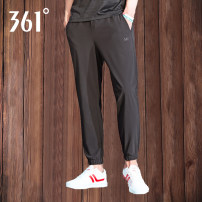 trousers male 361° Summer 2021 Frenulum Sports & Leisure Self cultivation Sports life Brand logo Cotton polyester Quick drying, breathable and windproof Woven middle-waisted yes Same model in shopping mall (sold online and offline)