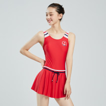one piece  Hosa / Haosha S,M,L,XL Blue, red Skirt one piece With chest pad without steel support 119111111/499 female Sleeveless Casual swimsuit