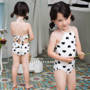 Bathing suit It is recommended to be about 80, 5, 7, 9, 11, 13, 15, 140, m, 160, l and 165 respectively Polyester 80% other 20% Love swimsuit as shown in the picture Other / other female Children's one piece swimsuit Class B