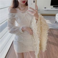 Dress Spring 2021 Off white, black S, M 18-24 years old