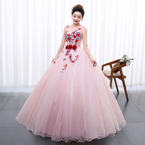 Dress / evening wear Wedding, adulthood, party, company annual meeting, performance The color is shown in the picture Sweet longuette middle-waisted Spring 2021 Fluffy skirt Sling type Bandage Netting 18-25 years old flower other Non handmade flower