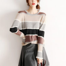 Wool knitwear Autumn of 2019 M Picture color Long sleeves Socket other 51% (inclusive) - 70% (inclusive) Regular routine commute Low crew neck Socket Bright silk