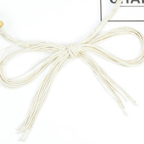 Belt / belt / chain Wax rope Knitting small bones - Beige female belt literature Single loop Children: 1-6 years old, young, middle-aged and old bow Glossy surface 2.5cm Knitting bows Cold weapon LBQ0110 Autumn and winter 2018