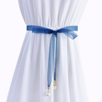 Belt / belt / chain other Coffee blue black mint green light powder female belt Sweet Single loop Children: 1-6 years old, young, middle-aged and old bow soft surface 2.0cm Bows Cold weapon LBQ0196 Autumn of 2019