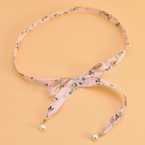 Belt / belt / chain other female belt Sweet Single loop Children: 1-6 years old, young, middle-aged and old bow soft surface 2.5cm Bow flower Cold weapon LBQ0176 Summer of 2019