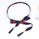 Belt / belt / chain other Blue, pink, white, black, meat, foundation, red, red, white, Tibetan, green, red, alphabet, coffee, yellow, black and white. female belt Versatile Single loop Children: 1-6 years old, young, middle-aged and old bow soft surface 2.5cm Bow letter Cold weapon LBQ0112 no
