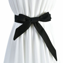 Belt / belt / chain cloth female belt Simplicity Single loop Children: 1-6 years old, young, middle-aged and old bow soft surface 4.0cm Bows Cold weapon Autumn and winter 2018