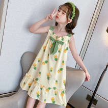 Home skirt / Nightgown Other / other Cotton 100% summer female 11-13 years old, above 13 years old, 3-5 years old, 5-7 years old, 7-9 years old, 9-11 years old Moisture absorption, moisture absorption and perspiration at home Class B cotton