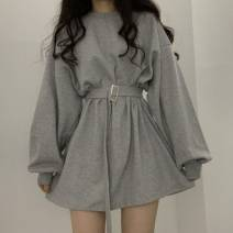 Dress Spring 2020 Gray, blue, black S,M,L,XL,2XL Other / other