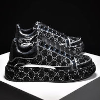 Low top shoes Other / other Multi material splicing Frenulum Round head Shoe of sponge cake Two layer pigskin The trend of youth daily printing Muffin bottom spring and autumn polyurethane increase Sewing shoes Youth (18-40 years old) rhinestone Middle heel (3-5cm) Two layer pigskin Korean version