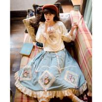 skirt Autumn 2020 Average size Picture color Mid length dress Retro Natural waist A-line skirt 18-24 years old Q200816 71% (inclusive) - 80% (inclusive) Classmate Li cotton