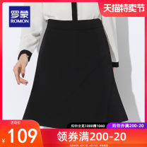 skirt Spring 2021 S M L XL 2XL black Middle-skirt commute High waist skirt Solid color 25-29 years old More than 95% Romon / Romon polyester fiber Ol style Polyethylene terephthalate (PET) 96% polyurethane elastic fiber (spandex) 4% Same model in shopping mall (sold online and offline)