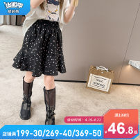 skirt 110cm, 120cm, 130cm, 140cm, 150cm, 160cm, 165cm, [warm tips] don't be too big! Black, white on red background Chuni female Other 100% summer skirt Korean version other other LY679 Class B