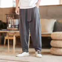 Casual pants Others other routine trousers Other leisure easy teenagers Chinese style middle-waisted other other other hemp