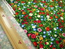 Fabric / fabric / handmade DIY fabric cotton Loose shear piece Plants and flowers printing and dyeing Other hand-made DIY fabrics Europe and America 100%