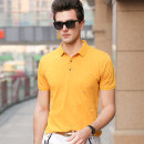 T-shirt Business gentleman Ajy-2133 yellow, ajy-2133 black, ajy-2133 Navy thin M,L,XL,2XL,3XL Others Short sleeve Lapel standard daily summer Cotton 95% polyester 5% middle age routine Business Casual 2021 Solid color cotton other Non brand More than 95%