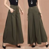 Casual pants Light gray, black, army green, coffee, black thick, army green thick, coffee thick M [2 foot waist], l [2 foot 1 waist], XL [2 foot 2 waist], 2XL [2 foot 3 waist], 3XL [2 foot 4 waist], 4XL [2 foot 5 waist], 5XL [2 foot 6 waist], 6xl [2 foot 7 waist] Spring 2017 trousers Wide leg pants