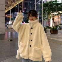 Sweater / sweater Winter 2020 Off white, random short sleeve T-shirt M,L,XL,XXL Long sleeves Medium length thickening stand collar Straight cylinder routine character 18-24 years old 51% (inclusive) - 70% (inclusive) Other / other wool 748 big money