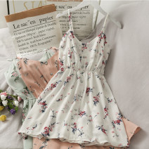 Dress Spring 2021 Black, blue, white, pink Average size Mid length dress singleton  Sleeveless commute camisole 18-24 years old Korean version A280477 30% and below other other