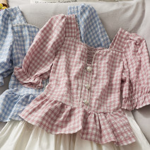 shirt Blue, yellow, black, pink Average size Summer 2021 other 30% and below Versatile Short style (40cm < length ≤ 50cm) other other 18-24 years old Straight cylinder A281197