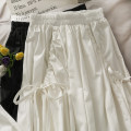 skirt Summer 2021 Average size White, black Mid length dress Versatile High waist Pleated skirt Solid color 18-24 years old A281061 31% (inclusive) - 50% (inclusive) other other