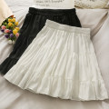 skirt Summer 2021 Average size White, black Short skirt Sweet Natural waist A-line skirt Solid color Type A 18-24 years old A280592 30% and below other other zipper