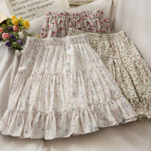 skirt Summer 2021 Average size 311 black, 311 apricot, 313 black, 313 white, 312 black, 312 apricot, 312 coffee Mid length dress commute High waist A-line skirt lattice Type A 18-24 years old A280593 30% and below other other