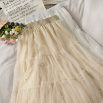 skirt Autumn 2020 Average size Apricot, white, black Mid length dress High waist A-line skirt 18-24 years old A279474 30% and below other other