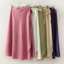skirt Summer 2020 Average size longuette High waist Solid color 18-24 years old 30% and below