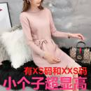 Dress Spring 2021 Off white, pink, blue, black Mid length dress singleton  Long sleeves commute Crew neck other other other routine Others 18-24 years old Zhenyaluo Korean version More than 95% other other
