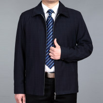 Jacket Other / other Business gentleman 170/M,175/L,180/XL,185/XXL,190/XXXL thin standard Other leisure spring Long sleeves Wear out Lapel Basic public middle age routine Zipper placket 2018 Cloth hem No iron treatment Loose cuff lattice More than two bags) Hidden thread patch bag