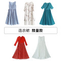 Dress Summer of 2019 S. M, average size longuette singleton  Sleeveless commute V-neck High waist other Socket Big swing other Others 25-29 years old Type X Cotton and linen literature 71% (inclusive) - 80% (inclusive) other polyester fiber