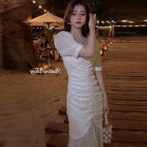 Women's large Spring 2021 white S M L XL 2XL 3XL Dress commute Korean version A04008 Little IDA's flower 18-24 years old Other 100% Pure e-commerce (online only)