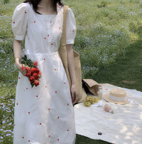 Women's large Summer 2020 S M L XL 2XL 3XL Dress commute Korean version Little IDA's flower 18-24 years old Other 100% Pure e-commerce (online only)